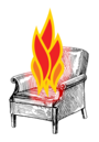 XPhi Burning Armchair